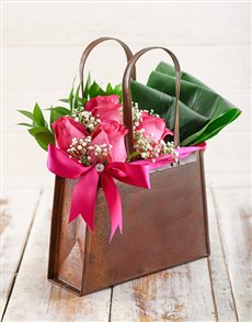 flowers: Cerise Rose Handbag!