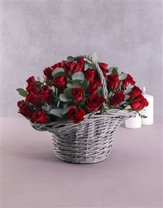 flowers: Ruby Red Rose Basket!
