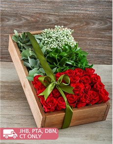 flowers: Love in a Red Rose Box!