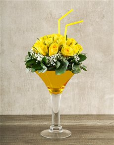 flowers: Elegant Yellow Rose Cocktail!