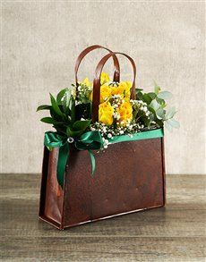 flowers: Yellow Rose Handbag!
