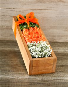 flowers: Orange Rose Crate!