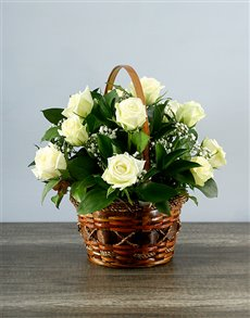 flowers: Whimsical Rose Basket!