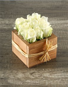 flowers: Petite White Rose Crate!