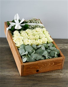 flowers: White Rose Deluxe Crate!