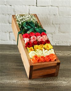 flowers: Rainbow Crate of Love!