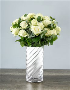 flowers: Wild About White Rose Bouquet!