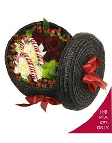 flowers: Woven Basket of Festive Flowers!