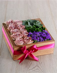 flowers: Lilac Rose Crate!
