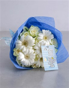 flowers: White and Blue Boy Bouquet!