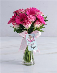 flowers: Pink Delight Baby Girl Arrangement!