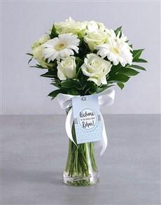 gifts: Baby Boy Flower Arrangement!