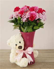 flowers: Pretty in Pink Baby Girl Arrangement!