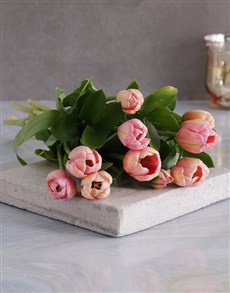 flowers: Pink Tulip Bouquet!