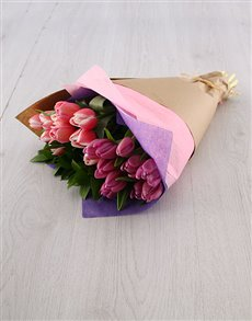 flowers: Pink & Purple Tulip Bouquet!