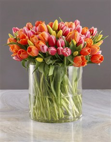 flowers: Hundred in One Tulips Arrangement!