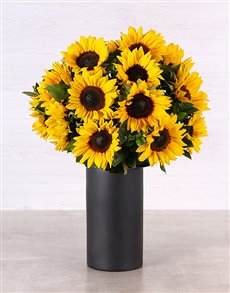 flowers: Sunflowers in a Black Chalk Vase!