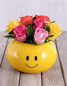 flowers: Smiling Roses Arrangement!