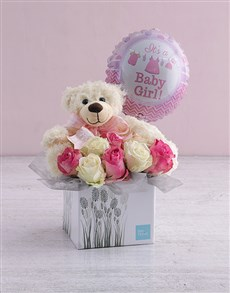 flowers: New Baby Rose Gift Box!