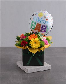 gifts: Gender Neutral Floral Box with Balloon!