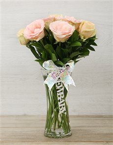 flowers: New Baby Pastel Rose Arrangement!