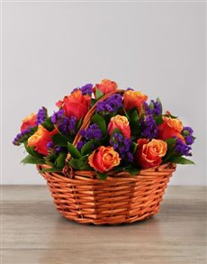 flowers: Cherry Branded Roses in Woven Basket!