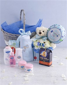 gifts: Baby Boy Pamper Hamper Arrangement!