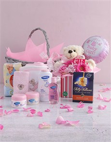 gifts: Baby Girl Pamper Hamper Arrangement!