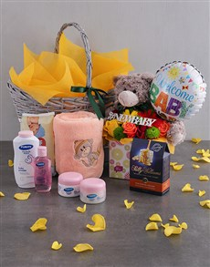 flowers: Baby Pamper Hamper Arrangement!