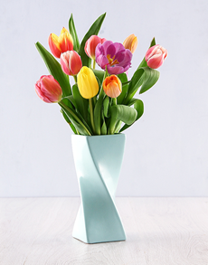 gifts: Tulips in a Twisty Vase!