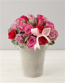 flowers: Pink Rose Admiration Arrangement!