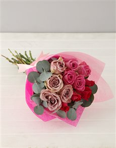 flowers: Lilac and Pink Rose Bouquet!