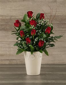 flowers: Red Rose Pot!