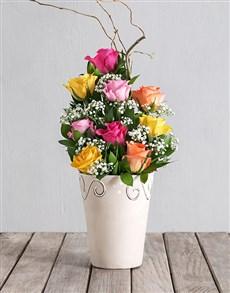 flowers: Rainbow Rose Pot!