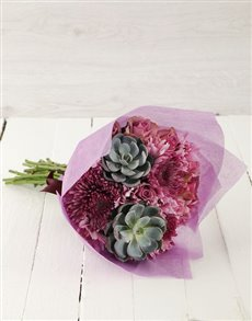 flowers: Prickly and Pristine Bouquet!