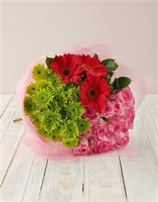 flowers: Magical Rose & Gerbera Bouquet!
