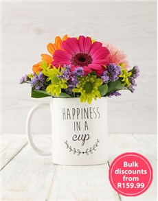 flowers: Mixed Happiness in a Cup Arrangement in Bulk!