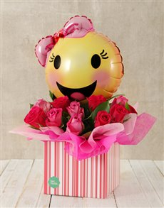 flowers: Pink Smiles and Roses Box!