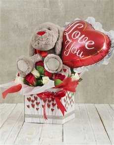 gifts: Roses and Love Balloon Romance Box!