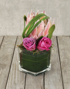 flowers: King Protea Glam Vase!