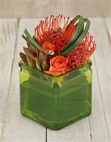 flowers: Pincushion Pizzazz Arrangement!