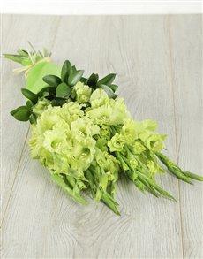 flowers: Green Grace Gladiolus Bouquet!