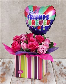 flowers: Best Friends Balloon and Rose Box!
