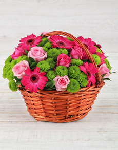 flowers: Gerbera Rose and Spray Basket!