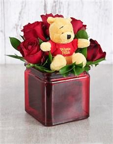 flowers: Pooh Bear Rose Vase!
