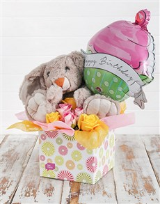 flowers: Rabbit Roses and Birthday Balloon Box!