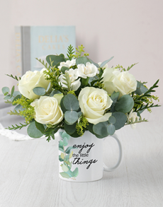 flowers: Little Things Mug Arrangement!