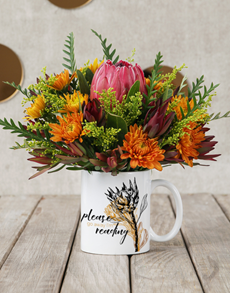 flowers: Im Reading Protea Mug Arrangement!