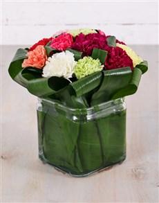 flowers: Petite Mixed Carnation Vase!