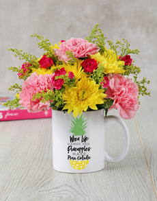flowers: Pina Colada Mug Arrangement!